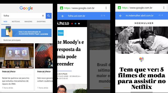 AMP Pages abrirão instantaneamente na página de resultados do google.